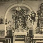 Innenansicht der Tütschengereuther Kirche vor der Erweiterung von 1928