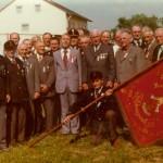 FFW 1976 verdiente Feuerwehrmänner mit Schirmherr Paul Röhner