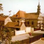 Tütschengereuther Kirche 1978 bei der Renovierung